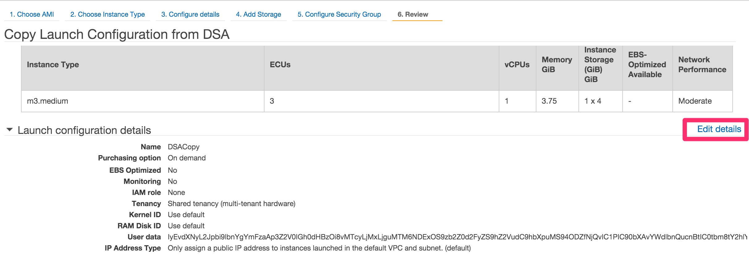 EC2 の Launch Configurations を適用する (4)